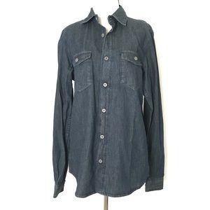 Scott James  denim button down polo shirt NWT